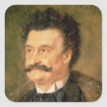 Johann Strauss the Younger, 1895 Square Sticker