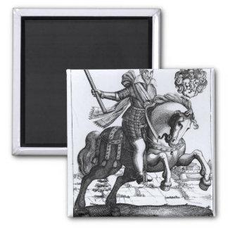Johann Tserclaes, Graf von Tilly 2 Inch Square Magnet