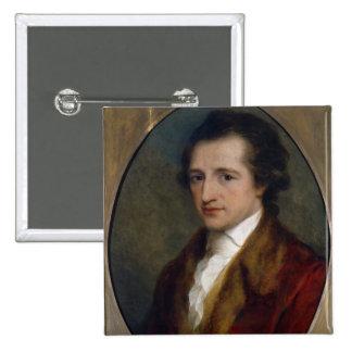Johann Wolfgang von Goethe, 1775 2 Inch Square Button