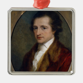 Johann Wolfgang von Goethe, 1775 Square Metal Christmas Ornament