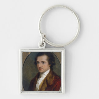 Johann Wolfgang von Goethe, 1775 Silver-Colored Square Keychain