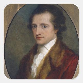 Johann Wolfgang von Goethe, 1775 Square Sticker