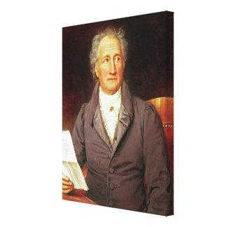 Johann Wolfgang von Goethe  1828 Canvas Print