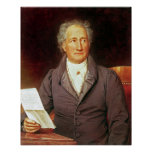 Johann Wolfgang von Goethe  1828 Poster