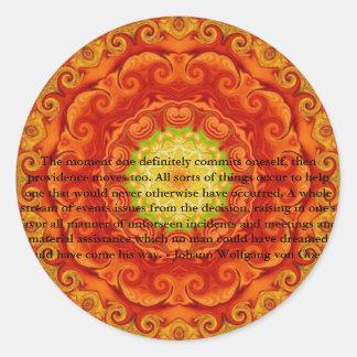 Johann Wolfgang von Goethe QUOTATION Round Sticker