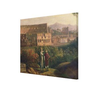 Johann Wolfgang von Goethe  visiting the Canvas Print
