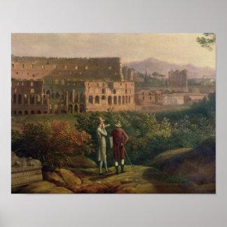 Johann Wolfgang von Goethe  visiting the Poster