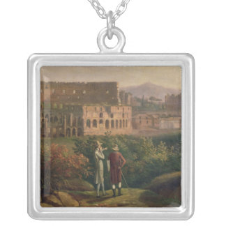 Johann Wolfgang von Goethe  visiting the Silver Plated Necklace