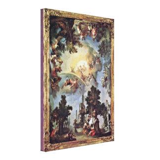 Johann Zimmermann - Allegory of Nymphenburg Gallery Wrap Canvas