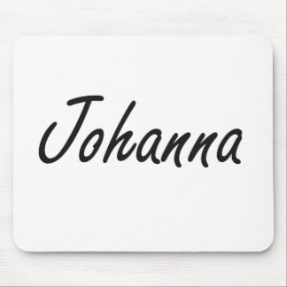 Johanna artistic Name Design Mouse Pad