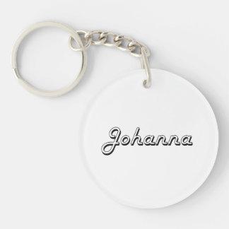 Johanna Classic Retro Name Design Single-Sided Round Acrylic Keychain