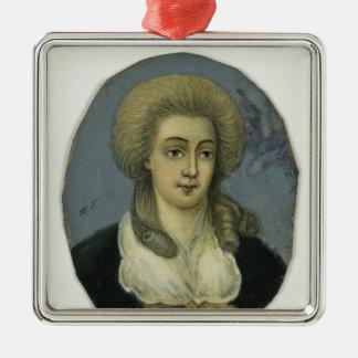 Johanna Elisabeth Mencken Metal Ornament