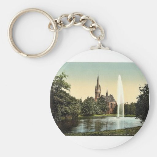 Johanna Park and Lutheran church, Leipsig (i.e., L Key Chains