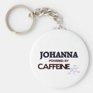 Johanna powered by caffeine basic round button keychain