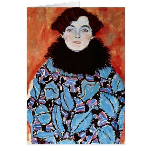 Johanna Staude by Gustav Klimt Card