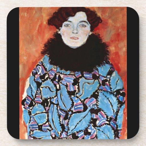 Johanna Staude by Gustav Klimt Drink Coasters