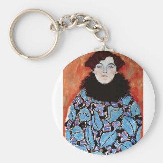 Johanna Staude by Gustav Klimt Keychain