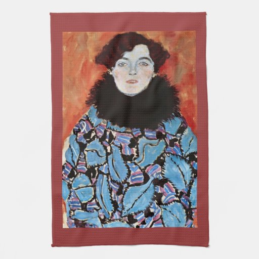 Johanna Staude by Gustav Klimt Hand Towels
