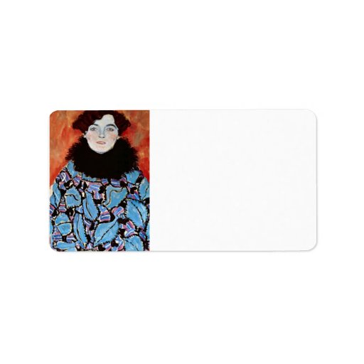 Johanna Staude by Gustav Klimt Address Label