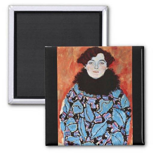 Johanna Staude by Gustav Klimt Fridge Magnet
