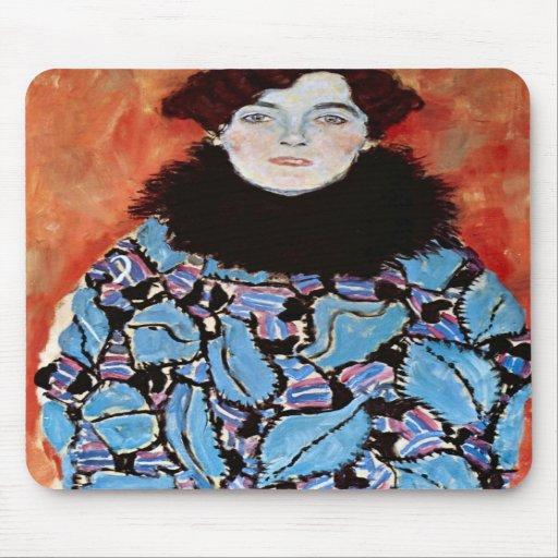 Johanna Staude by Gustav Klimt Mousepads