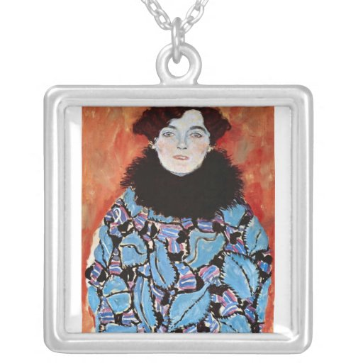 Johanna Staude by Gustav Klimt Necklaces