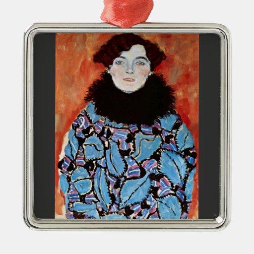 Johanna Staude by Gustav Klimt Christmas Tree Ornaments