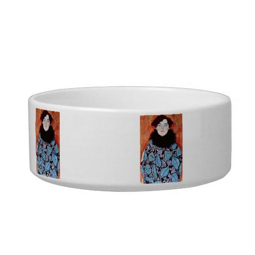 Johanna Staude by Gustav Klimt Cat Water Bowl