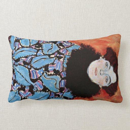 Johanna Staude by Gustav Klimt Throw Pillows