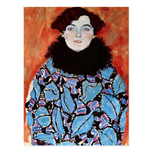 Johanna Staude by Gustav Klimt Postcard