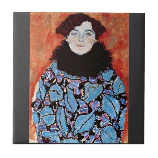 Johanna Staude by Gustav Klimt Tile