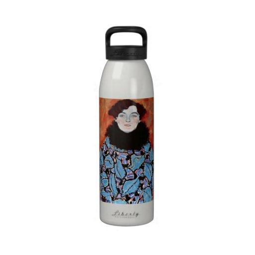 Johanna Staude by Gustav Klimt Water Bottle