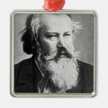 Johannes Brahms, 1879 Adorno Cuadrado Plateado