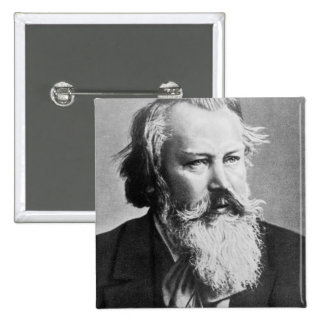 Johannes Brahms, 1879 2 Inch Square Button