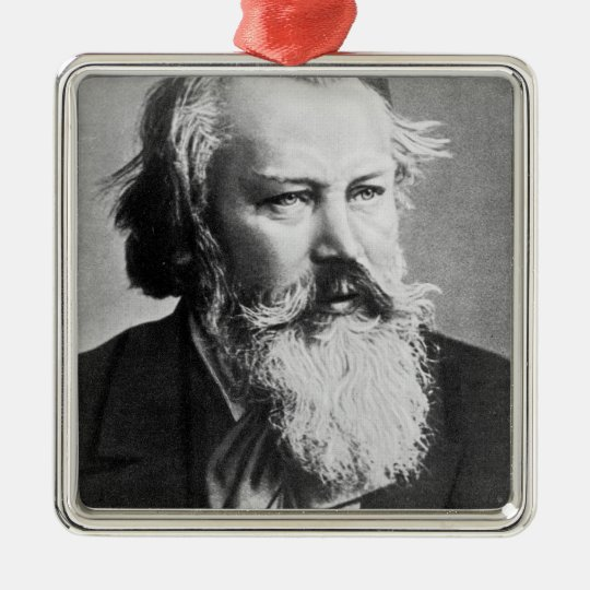 Johannes Brahms, 1879 Metal Ornament