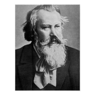 Johannes Brahms, 1879 Póster