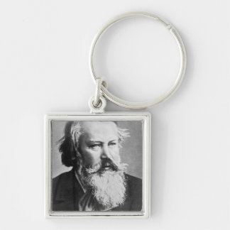 Johannes Brahms, 1879 Silver-Colored Square Keychain