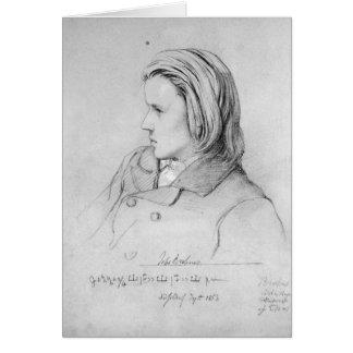 Johannes Brahms  aged twenty, 1853 Greeting Card