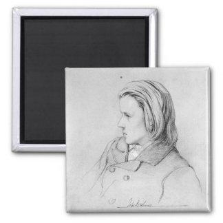Johannes Brahms  aged twenty, 1853 Magnet