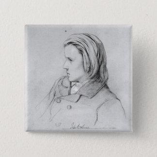 Johannes Brahms  aged twenty, 1853 Pinback Button
