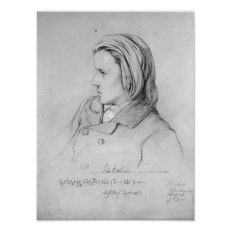 Johannes Brahms  aged twenty, 1853 Poster