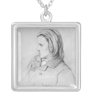 Johannes Brahms  aged twenty, 1853 Silver Plated Necklace