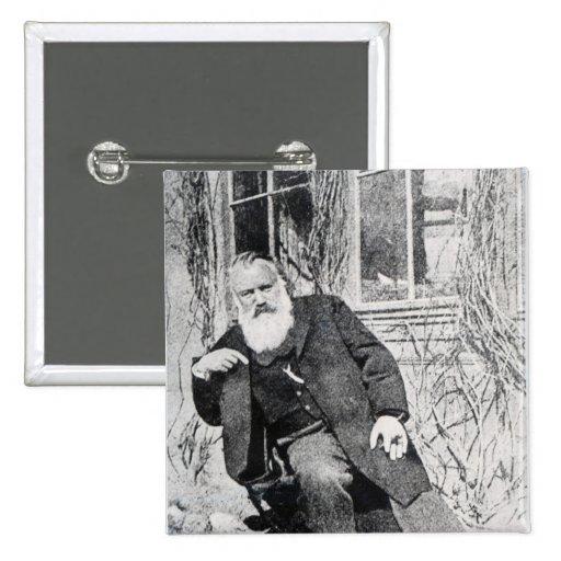 Johannes Brahms, c.1897 Pin Cuadrada 5 Cm
