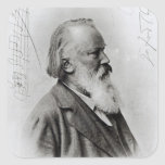Johannes Brahms Pegatinas Cuadradases Personalizadas