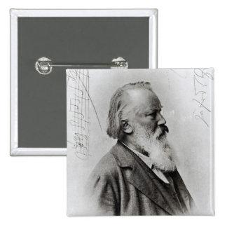Johannes Brahms Pin Cuadrado