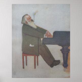 Johannes Brahms Póster