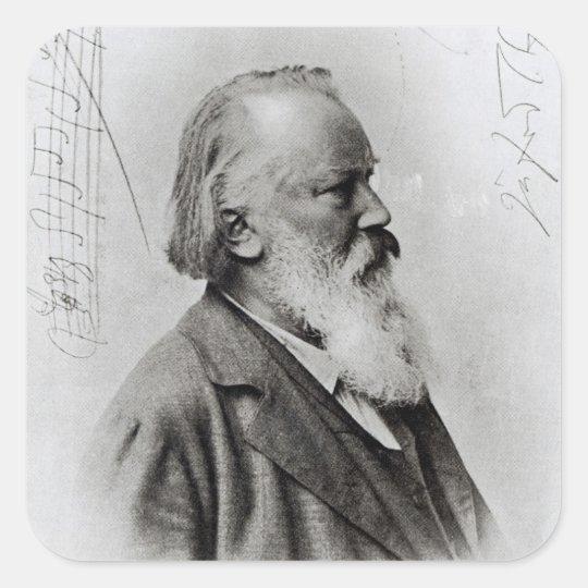 Johannes Brahms Square Sticker