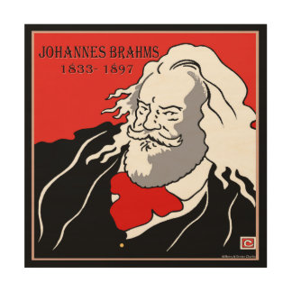 Johannes Brahms Wood Canvas Print Wood Wall Art