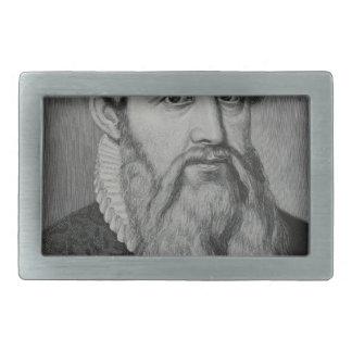 Johannes Gutenberg Rectangular Belt Buckle