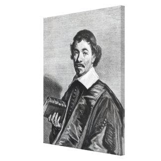 Johannes Hoornbeek, engraved by Jonas Canvas Print